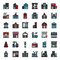 ícone de contorno cheio de construção