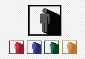 Ícones de pessoas pictograma para aplicações móveis da web e sinais de pessoas vetor