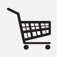 ícone de carrinho de compras vetor