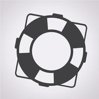 sinal de símbolo ícone lifebuoy