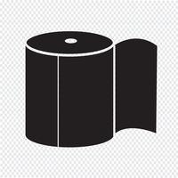 Ícone de papel higiênico vetor