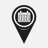 Ícone de calendário de ponteiro de mapa