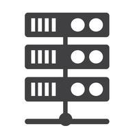 Ícone do servidor de computador vetor