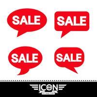 sinal de símbolo de ícone de venda vetor