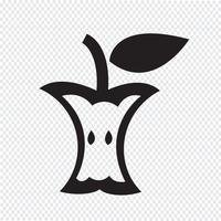 Sinal de símbolo de ícone da Apple vetor