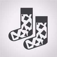 Sinal de símbolo de ícone de meia