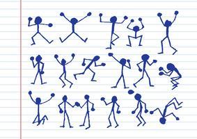 ícones de atividade de pessoas na ilustração