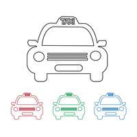 Ícone de carro de táxi vetor
