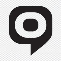ícone de bolha de destino vetor