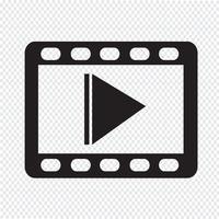 sinal de símbolo de ícone de vídeo vetor
