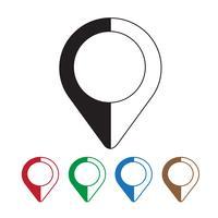 ícone de pinos de mapeamento