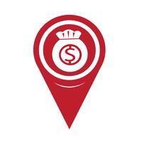Ícone Pin Map Pointer Money