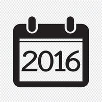 Calendário para 2016 vetor