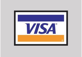 Logotipo do vetor de visto