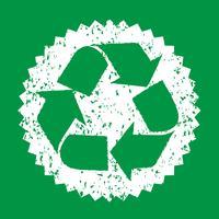Recicl o sinal do símbolo de sinal vetor