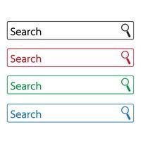ícone da barra de pesquisa vetor