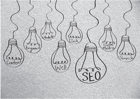 seo idea search engine optimization vetor