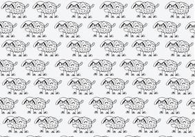 cartoon de ovelhas sinal de símbolo vetor