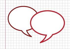 Sinal de símbolo de bolhas do discurso