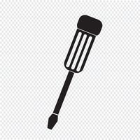 sinal de símbolo de ícone de chave de fenda vetor