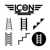 sinal de símbolo de ícone de escada vetor