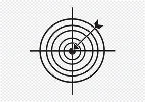 Ícone de alvo Sinal de símbolo vetor