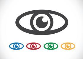 Ícone de olho símbolo de sinal vetor
