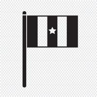 sinal de símbolo de ícone de bandeira vetor