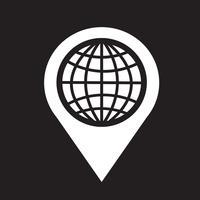 Ícone do ponteiro do mapa vetor