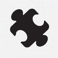 símbolo de ícone de quebra-cabeça vetor