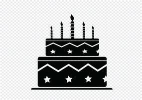 Bolo de aniversário vetor