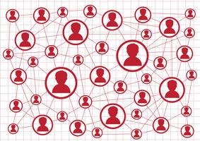 Conexão de rede sinal de símbolo vetor
