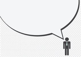 Homem, pessoas, pensando, falando, conversa, ícone, sinal, sinal, pictograma vetor