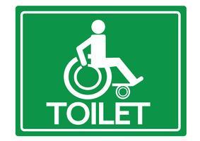 Banheiros sanitários para cadeira de rodas Handicap Icon design