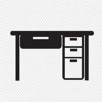 Ícone de escritório vetor