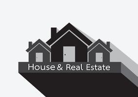 Ícone de casa e projeto abstrato de construção de imóveis vetor