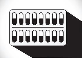 Conjunto de ícones de comprimidos e cápsulas vetor