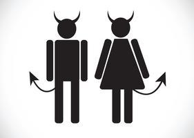 Pictograma, diabo, ícone, símbolo, sinal