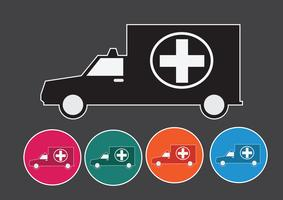 sinal de ambulância carro médico vetor