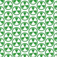 Pattern background Ícone de sinal de radioatividade vetor