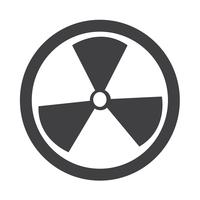Ícone de sinal de radioatividade vetor