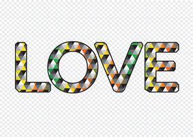 LOVE Font Type para cartão de dia dos namorados vetor
