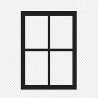 ícone de janela sinal de símbolo vetor