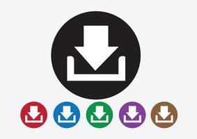 Ícone de download e botão Upload symbol vetor
