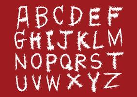 Alfabeto de mão desenhada letras escrito com pincel vetor