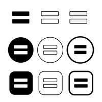 Licença e direitos autorais não derivado funciona ícone símbolo sinal vetor