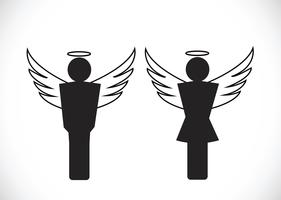 Pictograma, anjo, ícone, símbolo, sinal