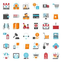 ícone de compras online vetor