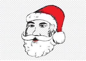Papai Noel para mão de Natal desenhada vetor