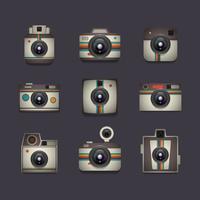 conjunto de câmera retro